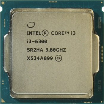 Процессор Intel Core i3-6300 3.8 GHz/2core/SVGA HD Graphics 530/0.5+ 4Mb/51W/8 GT/s LGA1151