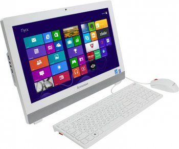 "Моноблок Lenovo S20-00 19.5"" HD+ Cel J1800/4Gb/500Gb/DVDRW/Windows 8.1 64/WiFi/Cam/белый 1600x900"