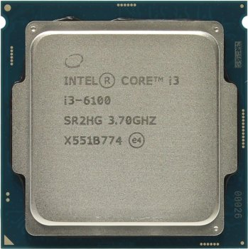 Процессор Intel Core i3-6100 BOX 3.7 GHz/2core/SVGA HD Graphics 530/0.5+ 3Mb/51W/8 GT/s LGA1151