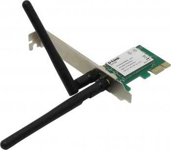 Адаптер беспроводной связи D-Link <DWA-548 /B1B> Wireless N 300 PCI-E x1 Desktop Adapter (802.11g/n, 300Mbps, 2x2dBi)