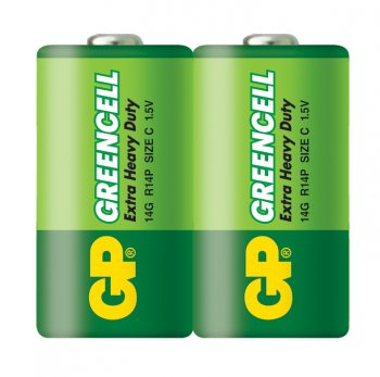 Батарейка GP Greencell 14G (в спайке) R14 C (2шт. уп)