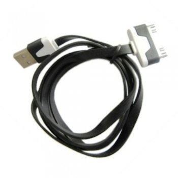 Кабель Dialog HC-A6110 Apple 30pin (M) --> USB A (M) 1м, плоский