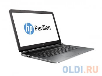 "Ноутбук hp Pavilion 17-g119ur <P5Q11EA> i3-5020U (2.2)/6G/500Gb/17.3"" HD+/AMD R7 M360 2G/DVD-SM/BT/Win10 (Natural silver)"