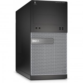 Системный блок Dell Optiplex 3020 MT i5 4590 (3.3)/8Gb/1Tb 7.2k/HDG4600/DVDRW/Windows 7 Professional 64 +W8.1Pro/Eth/290W/клавиатура/мышь/черный/серый
