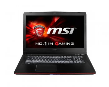 "Ноутбук MSI GE72 2QL-207RU Core i7 5700HQ/8Gb/1Tb/DVD-RW/nVidia GeForce GTX 950M 2Gb/17.3""/FHD (1920x1080)/Windows 8.1 Single Language/black/WiFi/BT/C"