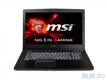 "Ноутбук MSI GE72 2QC(Apache)-431XRU i5-4210H/8G/1Tb/17.3"" FHD Anti-Glare/NV GTX960M 2GB DDR5/DVD-SM/Backlight/6Cell/ DOS/Black"