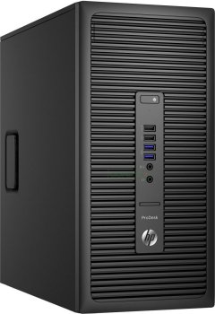 Системный блок HP ProDesk 600 G2 MT PDC 4400/4Gb/500Gb 7.2k/HDG5100/DVDRW/Windows 10 dwnW7Pro64/GbitEth/240W/клавиатура/мышь/черный