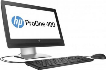 "Моноблок HP ProOne 400 G2 20"" Full HD P G4400T (2.9)/4Gb/500Gb 7.2k/HDG/DVDRW/Windows 10 Single Language 64/GbitEth/WiFi/клавиатура/мышь/синий 1920x10"