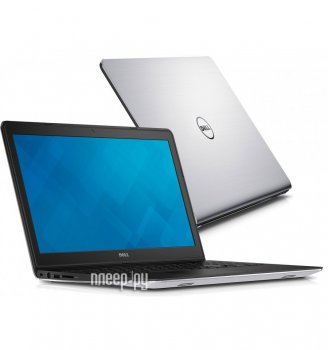 "Ноутбук Dell Inspiron 5749 Pentium 3805U/4Gb/500Gb/DVD-RW/Intel HD Graphics/17.3""/HD+ (1600x900)/Windows 8.1 64/silver/WiFi/BT/Cam/2660mAh"