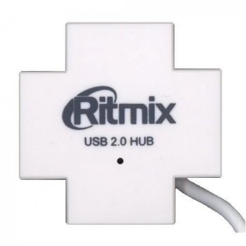 Концентратор USB Ritmix CR-2404 White