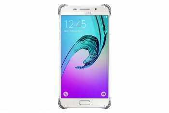Чехол (клип-кейс) Samsung для Samsung Galaxy A5 Clear Cover A510 серебристый (EF-QA510CSEGRU)