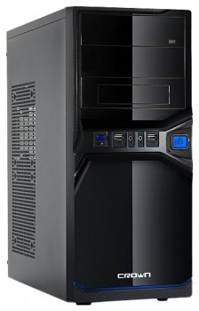 Системный блок (ATX/AMD A4-6320 3.8Ghz/RAM 4GB/HDD 1TB/DVD-RW/Win 10) (341082)