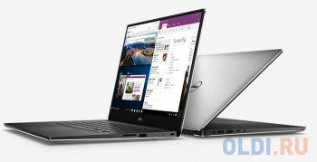 "Ноутбук Dell XPS 15 Core i7 6700HQ/16Gb/SSD512Gb/DVD-RW/nVidia GeForce GTX 960M 2Gb/15.6""/Touch/qHD/Windows 10/silver/WiFi/BT/Cam"
