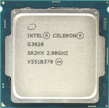 Процессор Intel Original Celeron G3920 Soc-1151 (CM8066201928609S R2HX) (2.9GHz/Intel HD Graphics 510) OEM