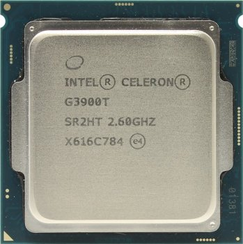 Процессор Intel Original Celeron G3900T Soc-1151 (CM8066201928505S R2HT) (2.6GHz/Intel HD Graphics 510) OEM
