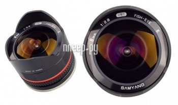 Объектив Samyang Sony E NEX MF 8 mm F/2.8 Fish-eye UMC II Black