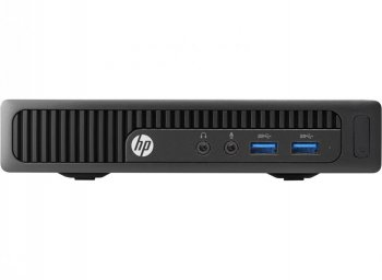 Системный блок HP 260 G1 DM P 3558U (1.4)/2Gb/500Gb 7.2k/HDG/Windows 10 Single Language 64/GbitEth/WiFi/65W/клавиатура/мышь/черный