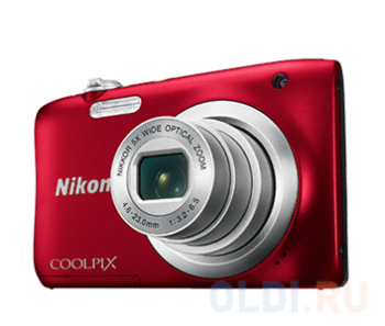 "Фотокамера Nikon Coolpix A100 Red <20.1Mp, 5x zoom, SD, USB, 2.6"">"