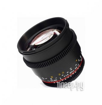 Объектив Samyang Sony E NEX MF 85 mm T1.5 AS IF UMC II VDSLR