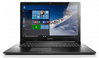"Ноутбук Lenovo IdeaPad G7080 Pentium 3825U/4Gb/500Gb/DVD-RW/Intel HD Graphics/17.3""/HD+ (1600x900)/Free DOS/black/WiFi/BT/Cam/2800mAh"