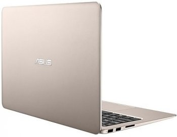"Ноутбук Asus UX305LA-FC076T Core i5 5200U/4Gb/SSD256Gb/Intel HD Graphics 5500/13.3""/IPS/FHD (1920x1080)/Windows 10 64/titanium/gold/WiFi/BT/Cam/Bag"