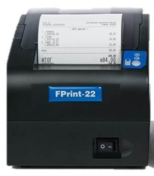 FPrint-22 RS/USB ПТК без ЭКЛЗ, ширина ленты 80/57мм, в комплекте с кабелем RS232, черный