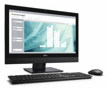 "Моноблок Dell Optiplex 3240 21.5"" Full HD i3 6100 (3.7)/4Gb/500Gb 7.2k/HDG530/DVDRW/Windows 7 Professional 64 +W10Pro/WiFi/клавиатура/мышь/Cam 1920x10"