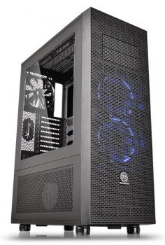 Корпус Thermaltake Core X71 черный w/o PSU mATX 3x140mm 2xUSB2.0 2xUSB3.0 audio bott PSU