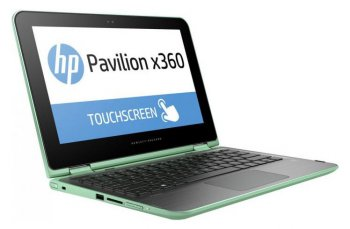 "Ноутбук hp Pavilion x360 11-k102ur Core M 6Y30/4Gb/SSD128Gb/Intel HD Graphics 515/11.6""/IPS/Touch/HD (1366x768)/Windows 10 64/green/WiFi/BT/Cam"
