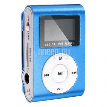 Плеер MP3 Perfeo VI-M001-Display Music Clip Titanium Blue