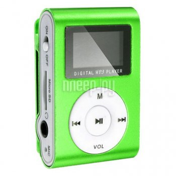 Плеер MP3 Perfeo VI-M001-Display Music Clip Titanium Green