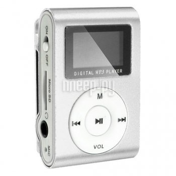 Плеер MP3 Perfeo VI-M001-Display Music Clip Titanium Silver