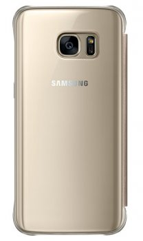 Чехол (флип-кейс) Samsung для Samsung Galaxy S7 Clear View Cover золотистый (EF-ZG930CFEGRU)