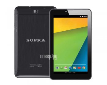 Планшетный компьютер SUPRA M74MG (MediaTek MT8735 1.0 GHz/512Mb/8Gb/Wi-Fi/3G/Bluetooth/GPS/Cam/7.0/1024x600/Android)