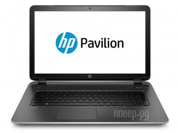 Ноутбук hp Pavilion 17-g012ur Natural Silver N0L19EA (Intel Core i7-5500U 2.4 GHz/4096Mb/1000Gb/DVD-RW/nVidia GeForce 940M 2048Mb/Wi-Fi/Bluetooth/Cam/
