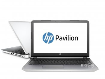 Ноутбук hp Pavilion 15-ab010ur Blizzard White N0K55EA (Intel Core i7-5500U 2.4 GHz/4096Mb/2000Gb/DVD-RW/nVidia GeForce 940M 2048Mb/Wi-Fi/Bluetooth/Cam