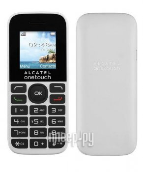Мобильный телефон Alcatel OneTouch 1016D Black Pure White