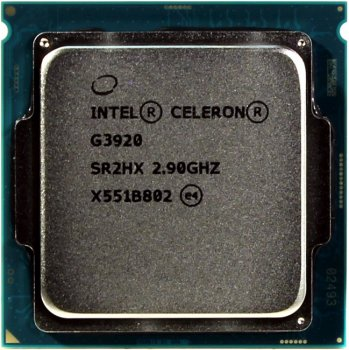 Процессор Intel Original Celeron G3920 Soc-1151 (BX80662G3920 S R2HX) (2.9GHz/Intel HD Graphics 510) Box
