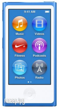 Плеер MP3 APPLE iPod Nano - 16Gb Blue MKN02RU/A