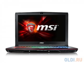 "Ноутбук MSI GE62 6QF(Apache Pro)-097RU i5-6300H(2.3) Skylake/16G/1Tb/15.6"" FHD Anti-Glare/NV GTX970M 3GB DDR5/DVD-SM/Backlight/6Cell/ Win10/Black"