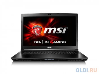 "Ноутбук MSI GL72 6QD-006XRU i7-6700HQ (2.6) Skylake/8G/1T/17.3""FHD Anti-Glare/NV GTX950M 2G/DVD-SM/BT/6Cell/DOS/Black"