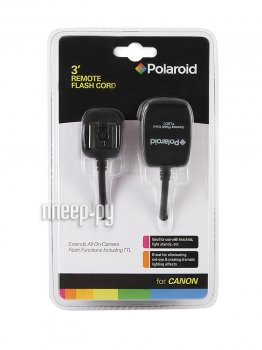 Синхронизатор Polaroid Hot Shoe PLSCC - синхрокабель для Canon