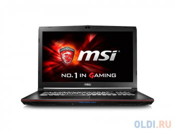 "Ноутбук MSI GP72 6QF(Leopard Pro)-276XRU i5-6300HQ(2.3) Skylake/8G/1T/17.3""FHD Anti-Glare/NV GTX960M 2G DDR5/DVD-SM/BT/6Cell/DOS/Black"