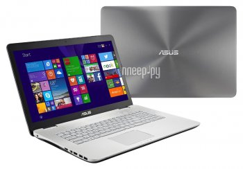 Ноутбук Asus N751JX-T7215T 90NB0842-M02600 (Intel Core i7-4750HQ 2.0 GHz/8192Mb/1000Gb/DVD-RW/nVidia GeForce GTX 950M 2048Mb/Wi-Fi/Bluetooth/Cam/17.3/