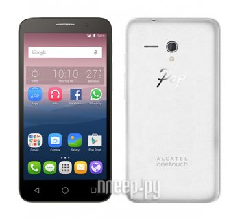 Смартфон Alcatel OneTouch 5065D POP 3 (5) White Leather