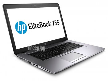 Ноутбук hp EliteBook 755 G2 Silver-Black Metal F1Q27EA (AMD A10 Pro 7350B 2.1 GHz/8192Mb/256Gb SSD/No ODD/AMD Radeon R5/Wi-Fi/Bluetooth/Cam/15.6/1920x