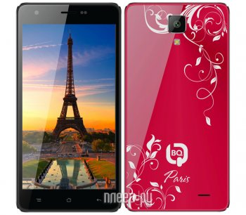 Смартфон BQ BQS-5004 Paris Red