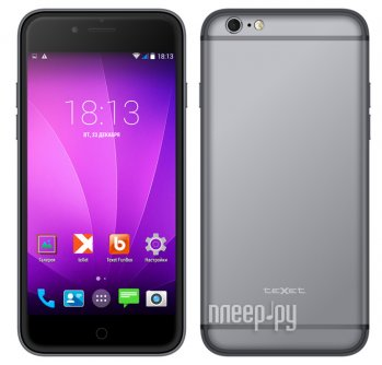 Смартфон teXet iX-maxi 16Gb TM-4982 Metallic