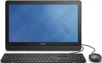 "Моноблок Dell Inspiron 20 3052 19.5"" HD+ P N3700 (2.4)/4Gb/1Tb 5.4k/HDG/Windows 10 Home Single Language 64/WiFi/BT/клавиатура/мышь/черный 1600x900"