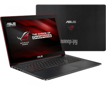 Ноутбук Asus ROG G501JW-CN369T 90NB0873-M08370 (Intel Core i7-4750HQ 2.0 GHz/8192Mb/1000Gb/No ODD/nVidia GeForce GTX 960M 2048Mb/Wi-Fi/Cam/15.6/1920x1